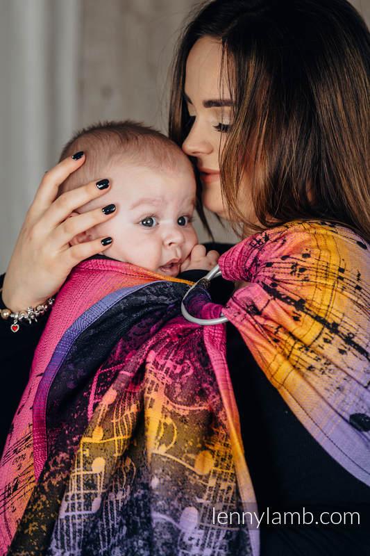 RingSling, Jacquardwebung (100% Baumwolle), mit Raffung an den Ringen - SYMPHONY - FRIENDS - standard 1.8m #babywearing