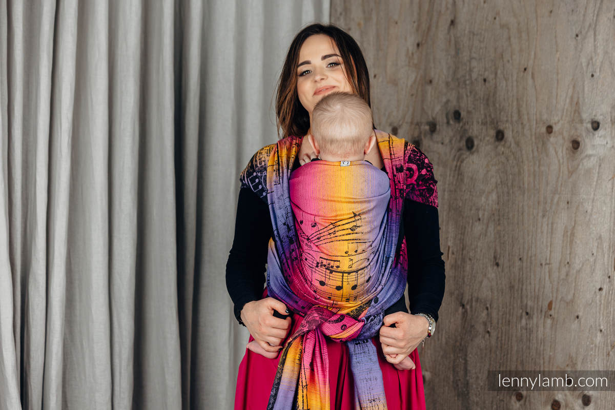 Baby Wrap, Jacquard Weave (100% cotton) - SYMPHONY - FRIENDS - size XS #babywearing