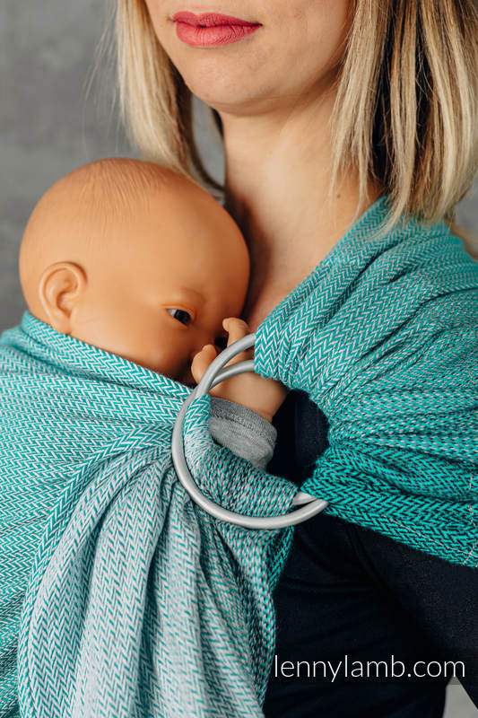 Ringsling, Jacquard Weave (100% cotton), with gathered shoulder - FOR PROFESSIONAL USE EDITION - ENTWINE - standard 1.8m #babywearing