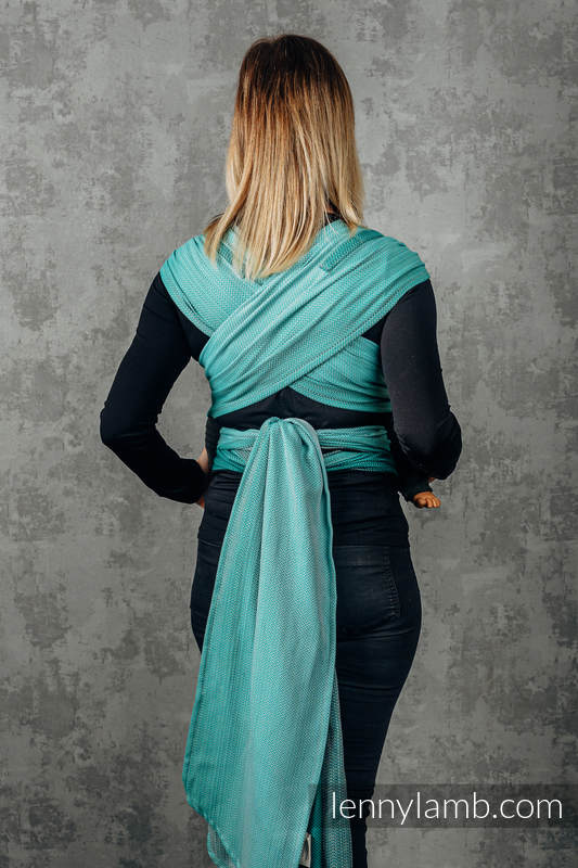 WRAP-TAI carrier Mini with hood/ herringbone twill / 100% cotton / FOR PROFESSIONAL USE EDITION - ENTWINE #babywearing