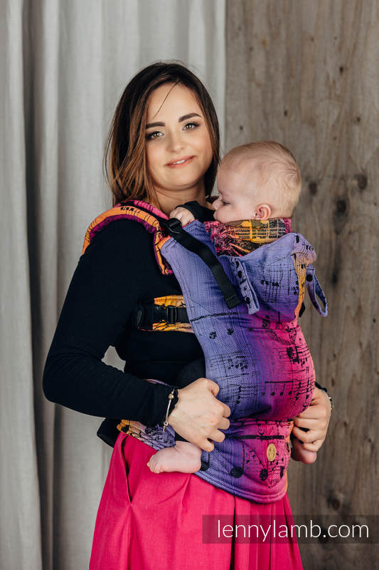 LennyGo Ergonomic Carrier, Baby Size, jacquard weave 100% cotton - SYMPHONY - FRIENDS  #babywearing