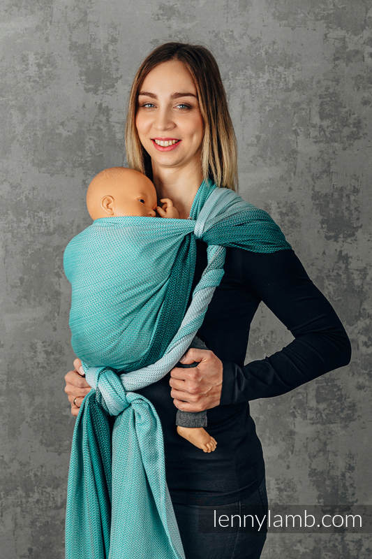 Baby Wrap, Herringbone Weave (100% cotton) - FOR PROFESSIONAL USE EDITION - ENTWINE - size XS #babywearing