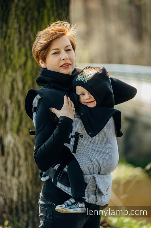 Golf dla dwojga (dzianina dresowa) - Czarny z Wolny Duch Dedal #babywearing