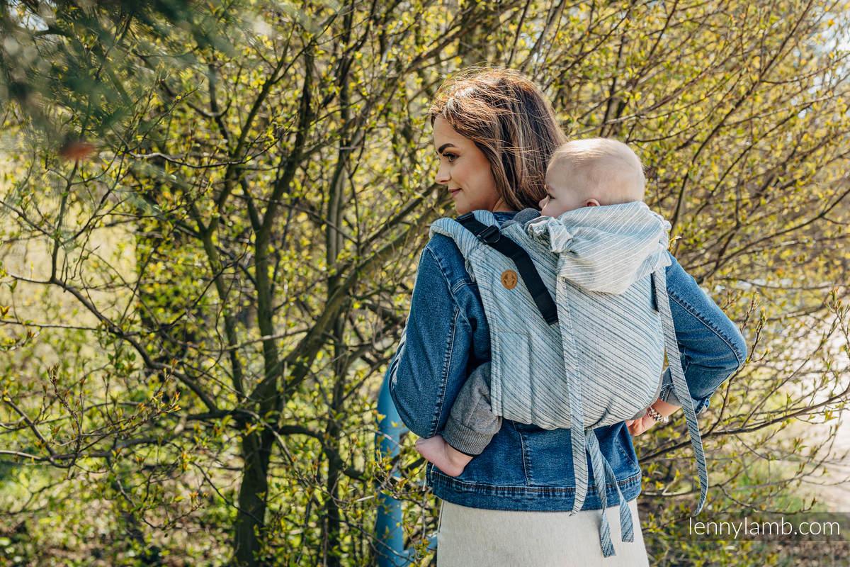 Lenny Buckle Onbuhimo Tragehilfe, Größe Standard, Fischgrätmuster (100% Leinen) - TERRA - RUSTLE  #babywearing