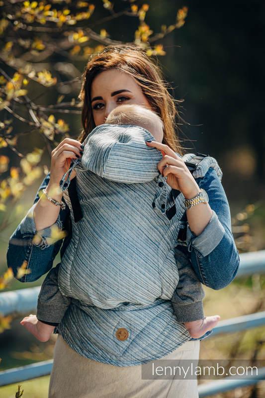 Nosidełko Ergonomiczne LennyGo, z tkaniny żakardowej 100% len, Baby Size - TERRA - SZELEST  #babywearing