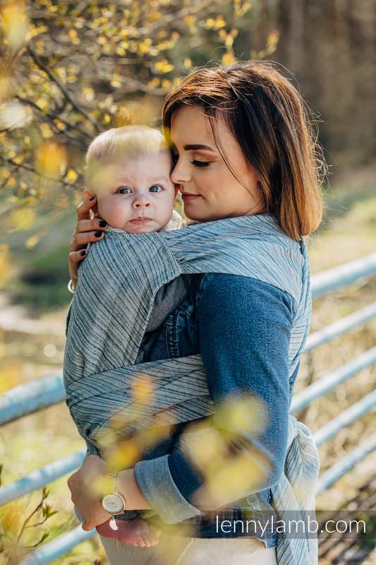 LennyHybrid Half Buckle Tragehilfe, Größe Standard, Jacquardwebung, 100% Leinen - TERRA - RUSTLE  #babywearing
