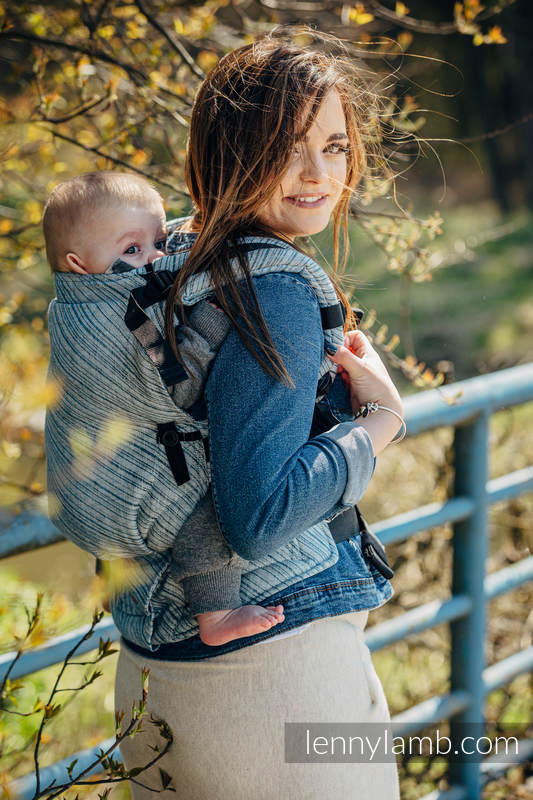 Marsupio LennyUpGrade, misura Standard, tessitura jacquard, (100% lino) - TERRA - RUSTLE  #babywearing