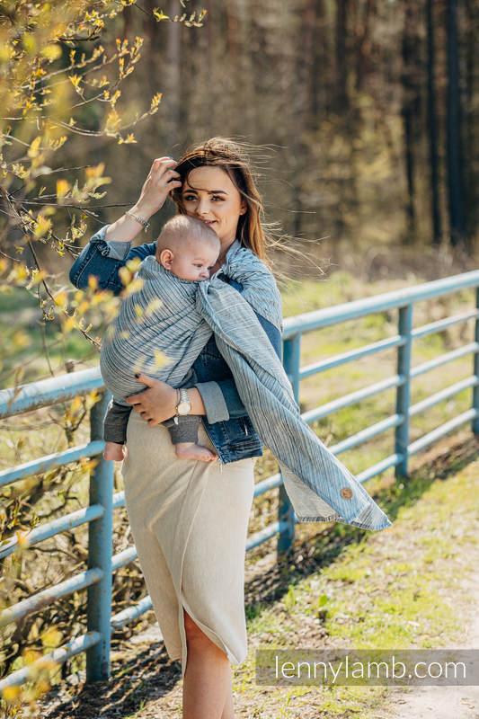 RingSling, Jacquardwebung (100% Leinen,) Raffung an den Ringen - TERRA - RUSTLE - standard 1.8m #babywearing