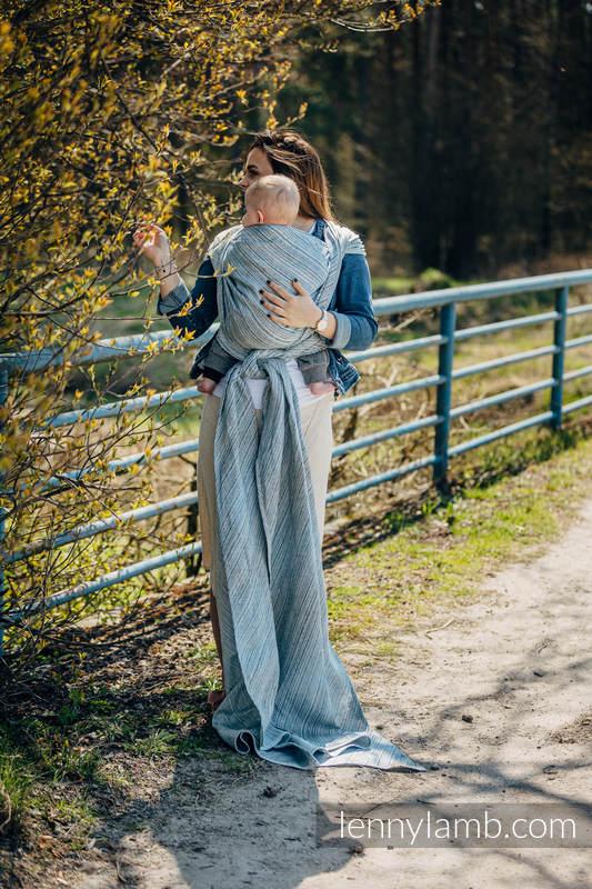Tragetuch, Jacquardwebung (100% Leinen) - TERRA - RUSTLE - Größe XL #babywearing
