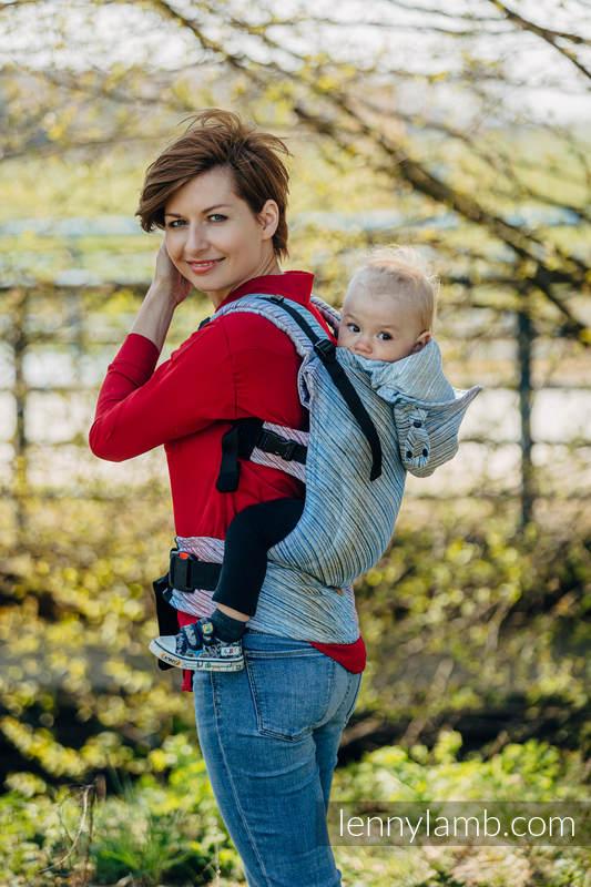 Nosidełko Ergonomiczne LennyGo, z tkaniny żakardowej 100% len, Toddler Size - TERRA - SZUM  #babywearing
