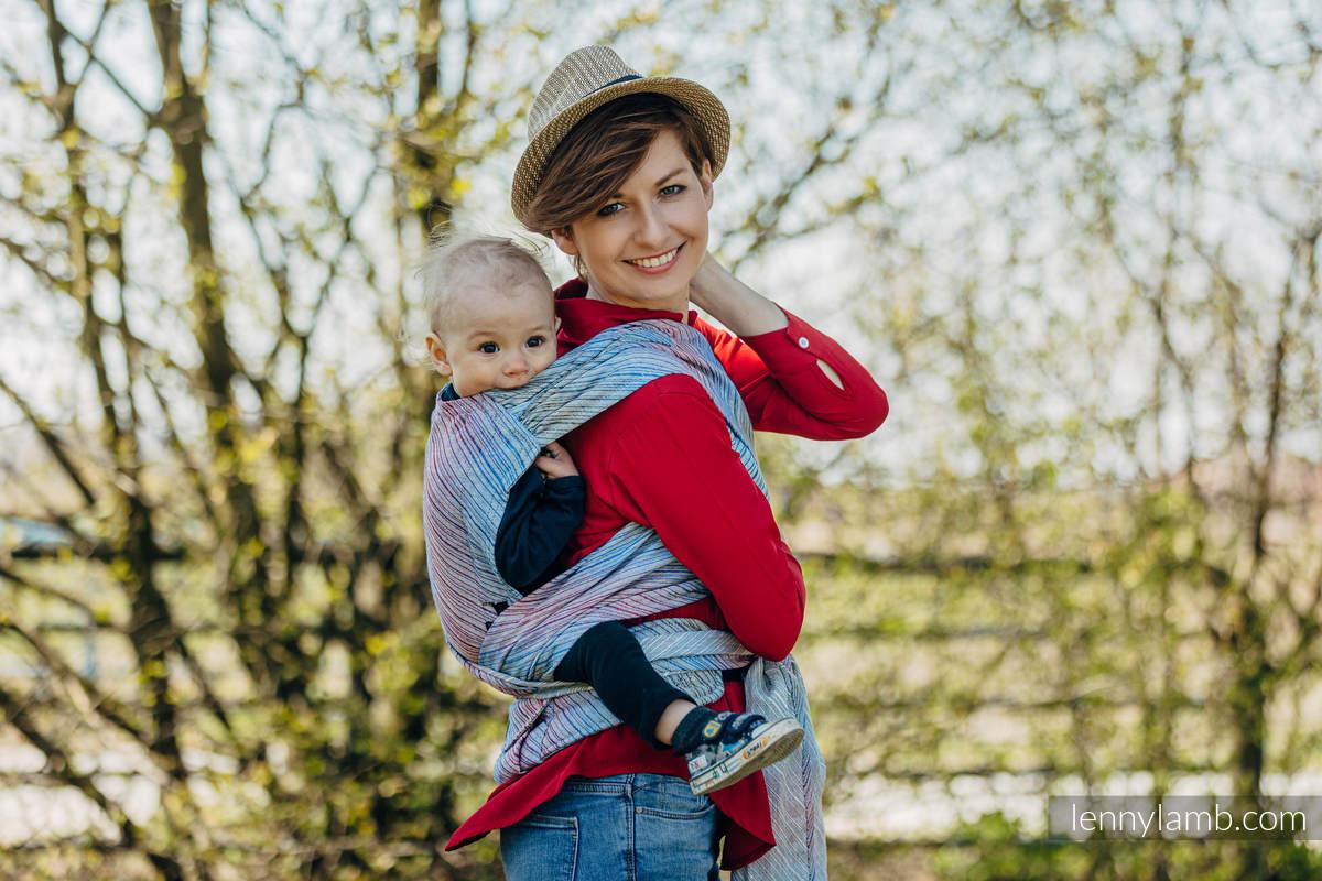 LennyHybrid Half Buckle Tragehilfe, Größe Standard, Jacquardwebung, 100% Leinen - TERRA - HUMMING  #babywearing