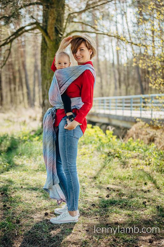 Tragetuch, Jacquardwebung (100% Leinen) - TERRA - HUMMING - Größe XS #babywearing