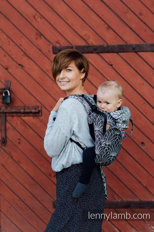 Lenny Buckle Onbuhimo Tragehilfe, Größe Standard, Fischgrätmuster (100% Leinen) - LOTUS - BLACK #babywearing