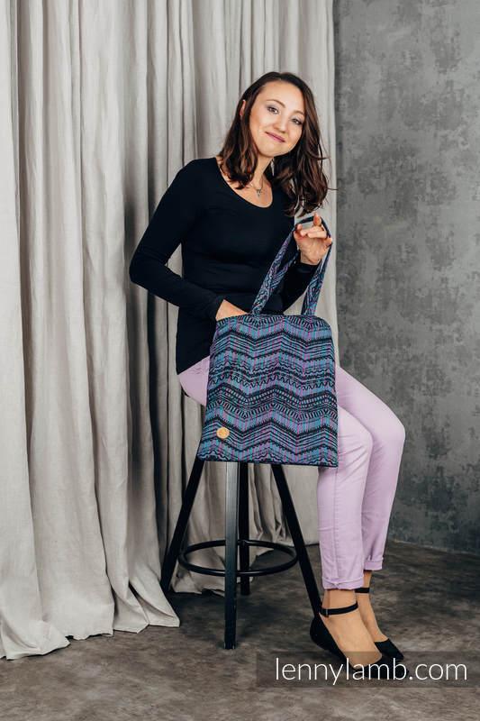 Bolsa de la compra hecho de tejido de fular (100% algodón) - BOHO - ECLECTIC #babywearing