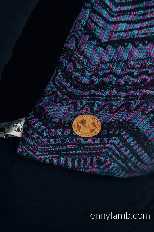 Mochila portaobjetos hecha de tejido de fular (100% algodón) - BOHO - ECLECTIC - talla estándar 32cmx43cm #babywearing