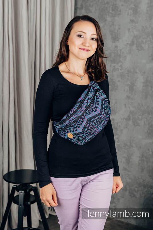 Saszetka z tkaniny chustowej, rozmiar large (100% bawełna) - BOHO - ECLECTIC #babywearing