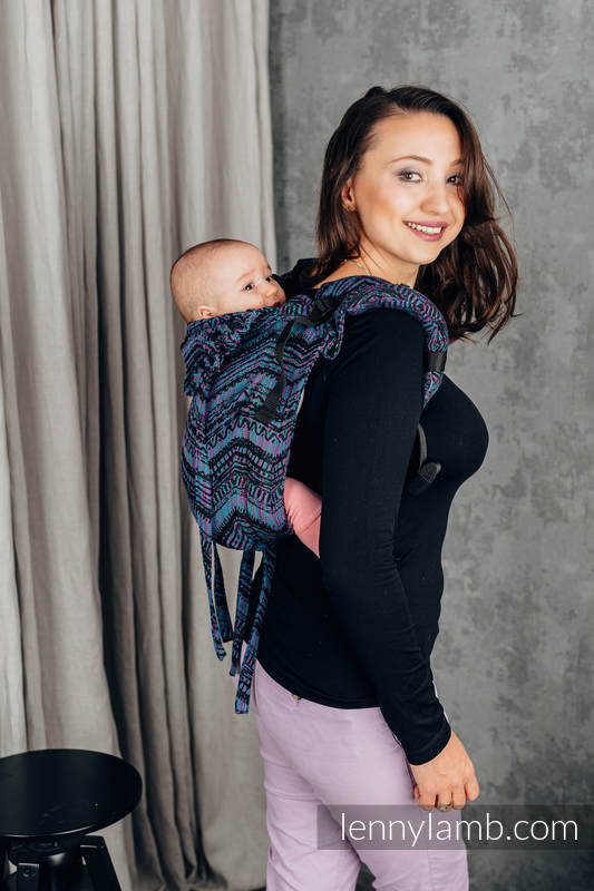 Nosidło Klamrowe ONBUHIMO z tkaniny żakardowej (100% bawełna), rozmiar Standard - BOHO - ECLECTIC #babywearing