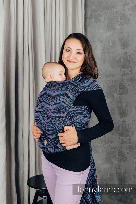 LennyHybrid Half Buckle Carrier, Standard Size, jacquard weave 100% cotton - BOHO - ECLECTIC #babywearing