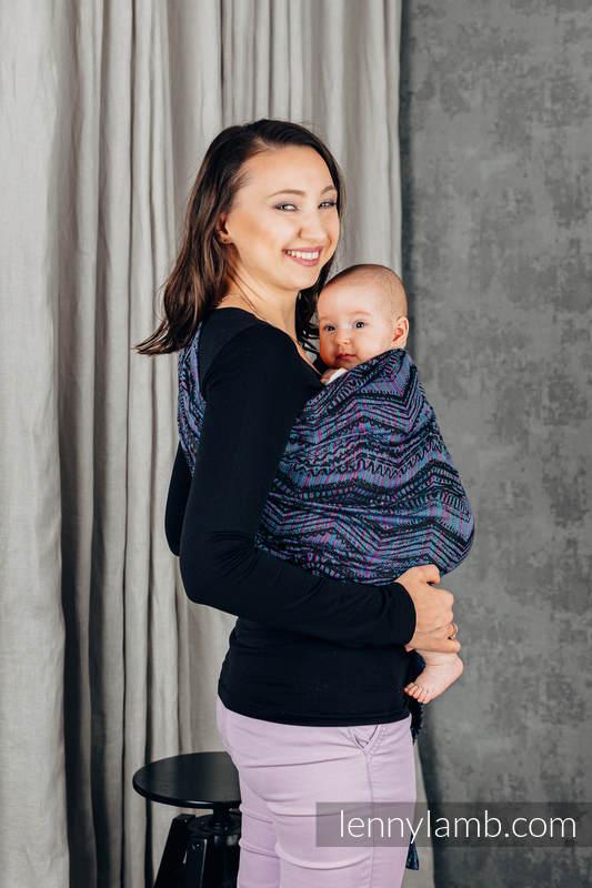Chusta kółkowa, splot żakardowy, ramię bez zakładek (100% bawełna) - BOHO - ECLECTIC - standard 1.8m #babywearing