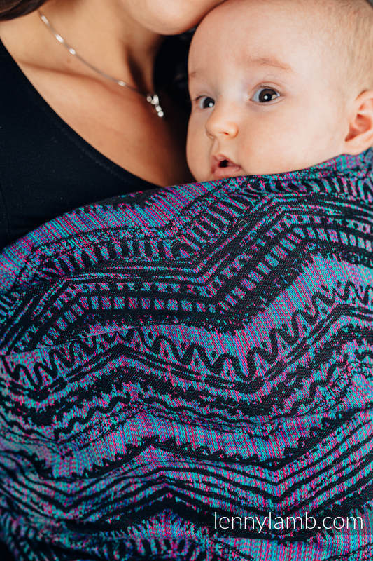 Baby Wrap, Jacquard Weave (100% cotton) - BOHO - ECLECTIC - size XS #babywearing