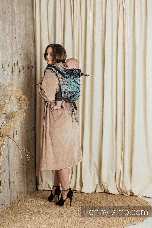 Nosidło Klamrowe ONBUHIMO  z tkaniny żakardowej (60% Bawełna 28% Len 12% Jedwab Tussah), rozmiar Standard - WAŻKI - DWA ŻYWIOŁY #babywearing