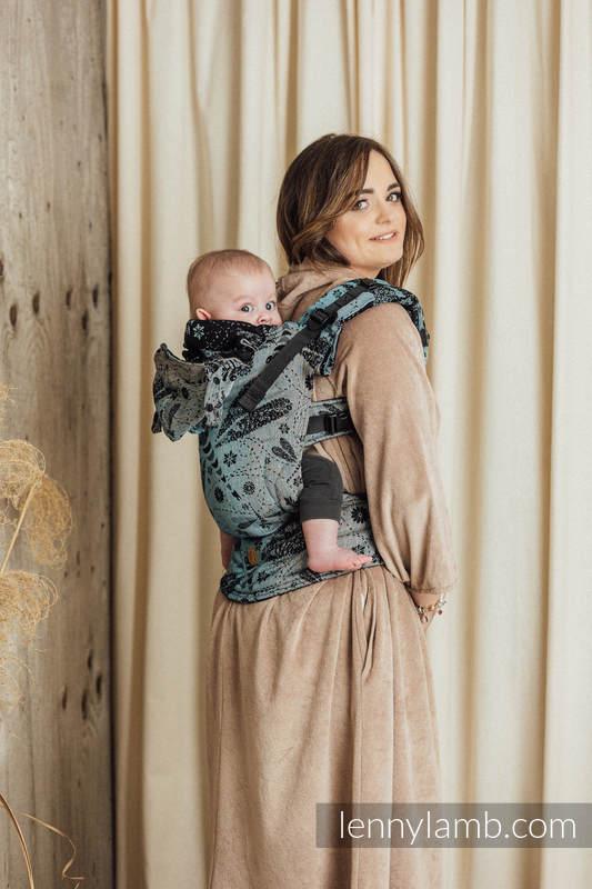 Nosidełko Ergonomiczne LennyGo z tkaniny żakardowej 60% Bawełna 28% Len 12% Jedwab Tussah, Baby Size, WAŻKI - DWA ŻYWIOŁY #babywearing