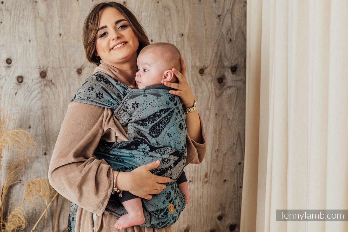 Nosidełko LennyHybrid Half Buckle, splot żakardowy, (60% Bawełna 28% Len 12% Jedwab Tussah) , rozmiar standard - WAŻKI - DWA ŻYWIOŁY #babywearing