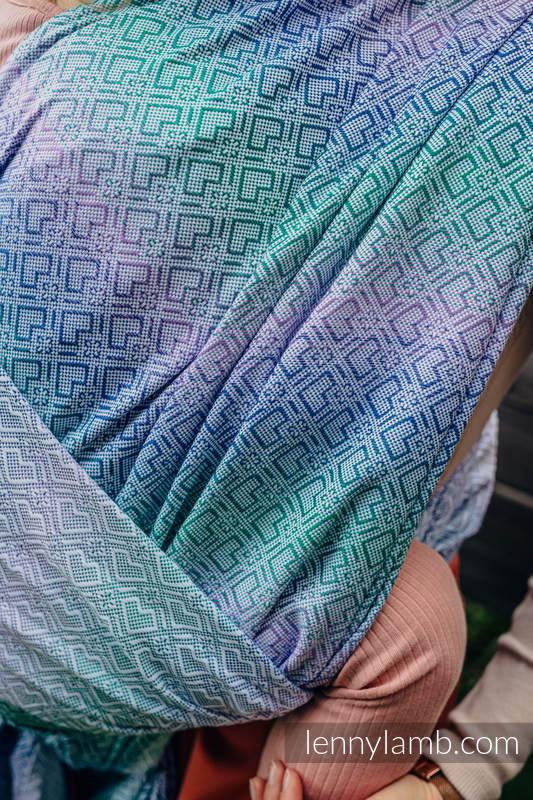 Écharpe, jacquard (32 % bambou + 68 % coton) - BIG LOVE - SIRENA - taille L #babywearing