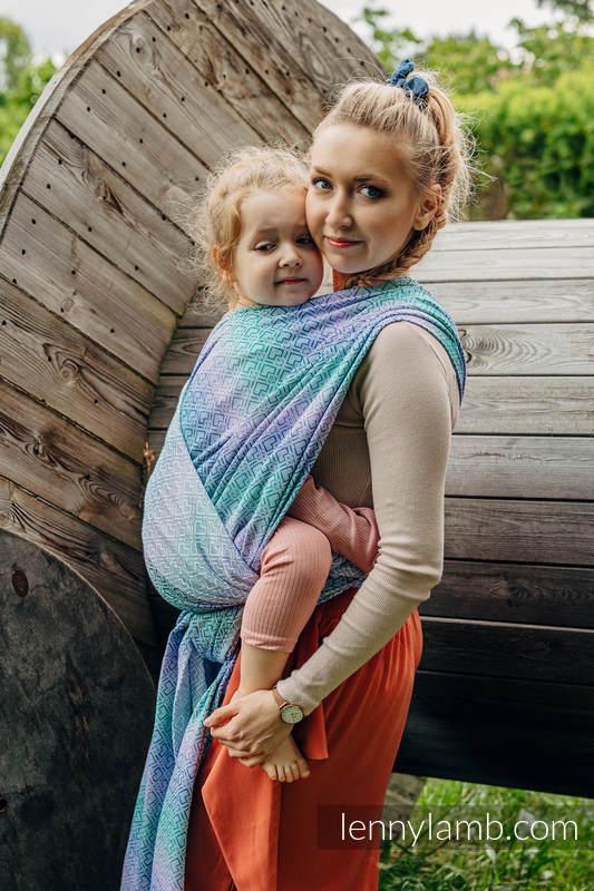 Baby Wrap, Jacquard Weave (68% cotton, 32% bamboo) - BIG LOVE - SIRENA - size XS #babywearing