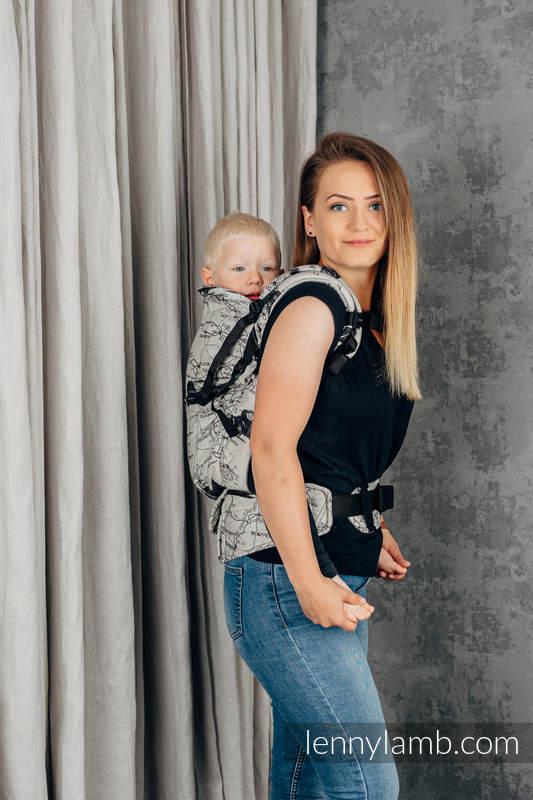 LennyPreschool Carrier, Preschool Size, jacquard weave 100% cotton - ROAD DREAMS #babywearing