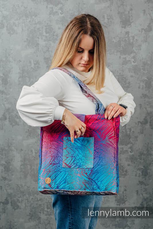 Bolso hecho de tejido de fular (100% algodón) - WILD SOUL - BLAZE - talla estándar 37 cm x 37 cm #babywearing