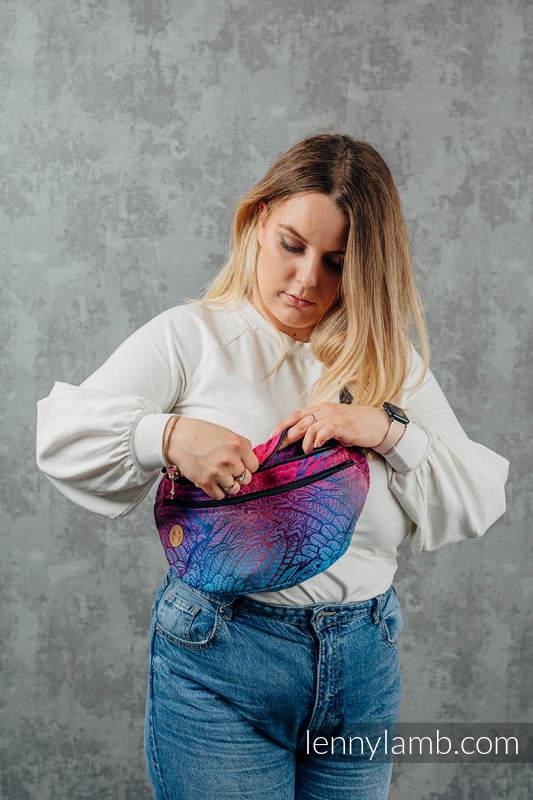 Saszetka z tkaniny chustowej, (100% bawełna), size large - WOLNY DUCH - BLAZE  #babywearing