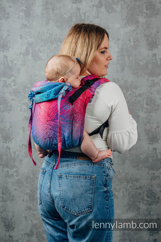 Nosidło Klamrowe ONBUHIMO z tkaniny żakardowej (100% bawełna), rozmiar Standard - WOLNY DUCH - BLAZE  #babywearing