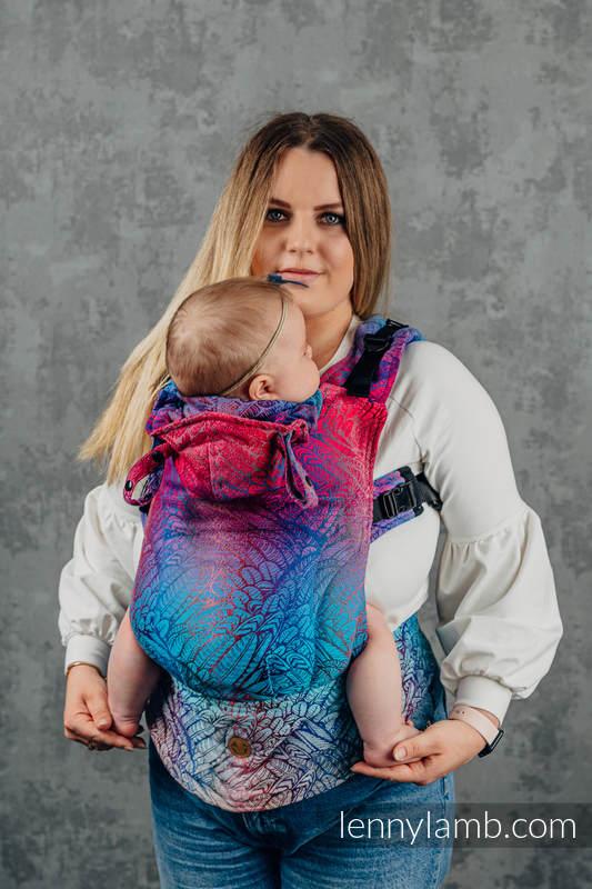 Nosidełko Ergonomiczne LennyGo z tkaniny żakardowej 100% bawełna , rozmiar Toddler - WOLNY DUCH - BLAZE  #babywearing