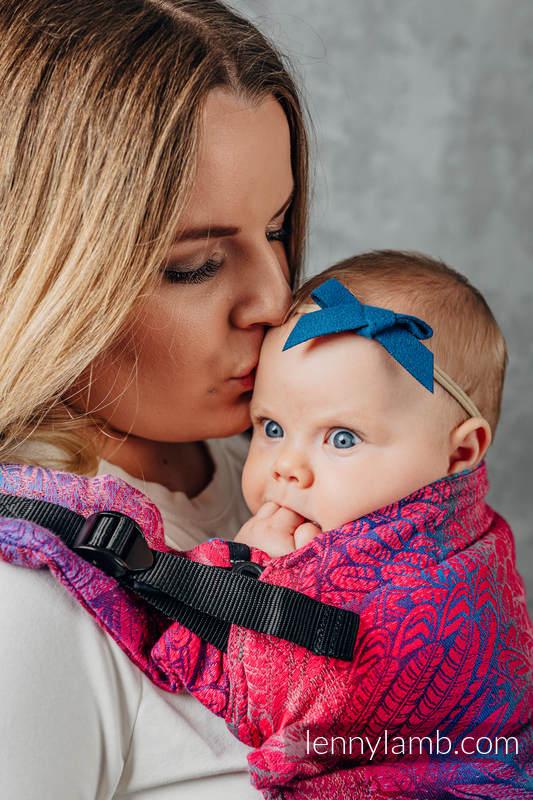 Mochila LennyUpGrade, talla estándar, tejido jaqurad 100% algodón - WILD SOUL - BLAZE  #babywearing