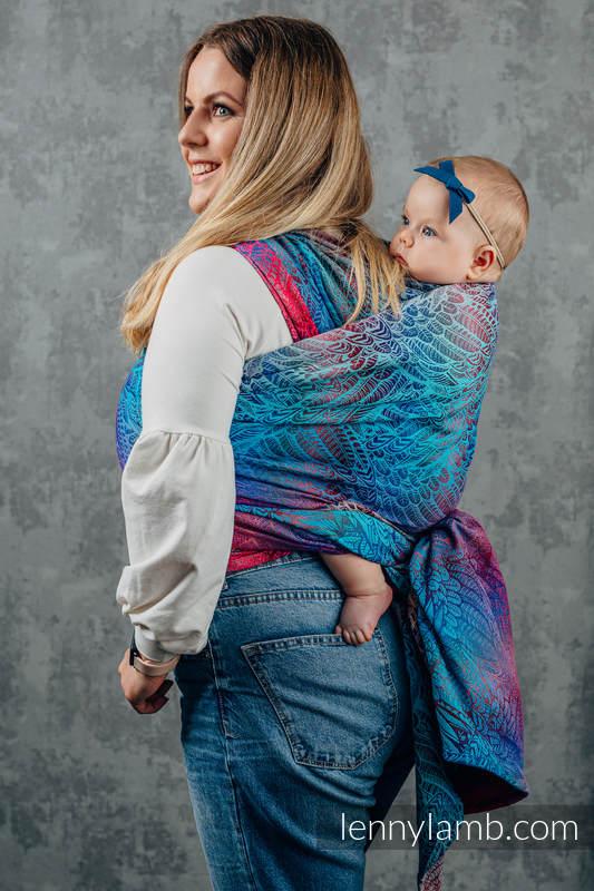 Żakardowa chusta do noszenia dzieci, 100% bawełna - WOLNY DUCH - BLAZE - rozmiar S #babywearing