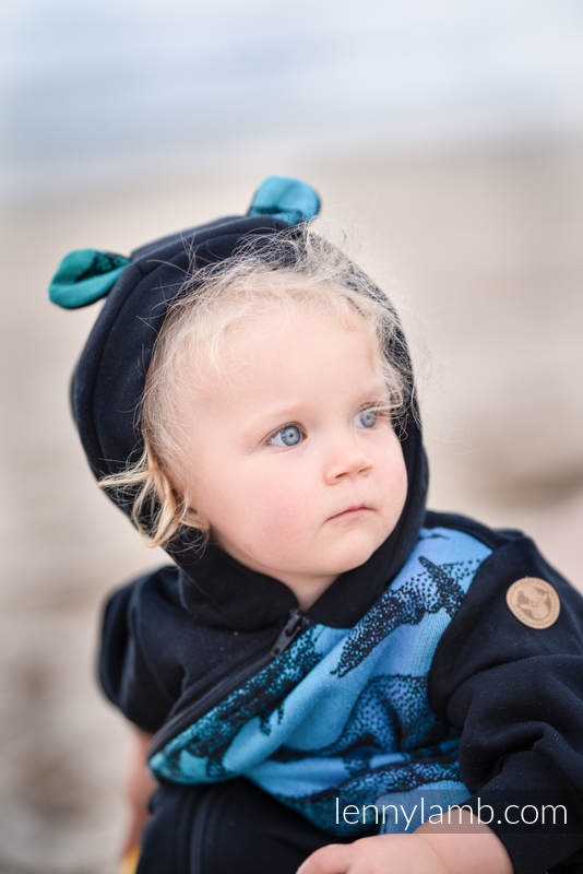 Bear Romper - size 116 - Black & Jurassic Park #babywearing
