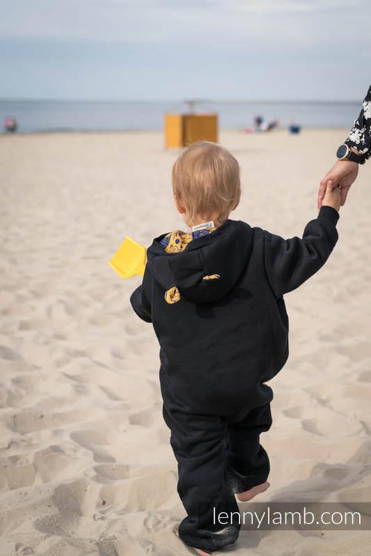 Bear Romper - size 104 - Black & Under the Leaves - Golden Autumn #babywearing