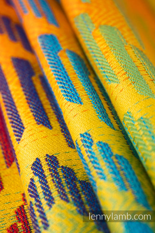 Sackpack made of wrap fabric (100% cotton) - RAINBOW CHEVRON - standard size 32cmx43cm #babywearing