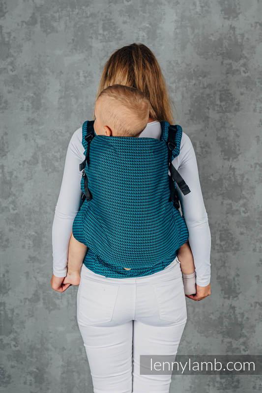 Nosidełko LennyPreschool, splot tessera, 100% bawełna , rozmiar preschool - BASIC LINE TANZANIT #babywearing