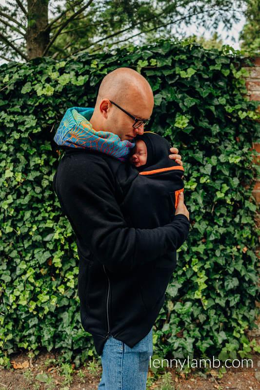 Babywearing Sweatshirt 3.0 - Black with Rainbow Lotus - size 3XL #babywearing