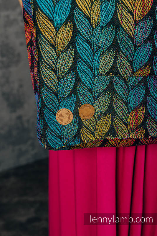 Shoulder bag made of wrap fabric (100% cotton) - TANGLED - BEHIND THE SUN - standard size 37cmx37cm #babywearing