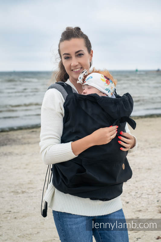 Babytragecover für Tragehilfe/Tragetuch - Softshell - Schwarz  #babywearing