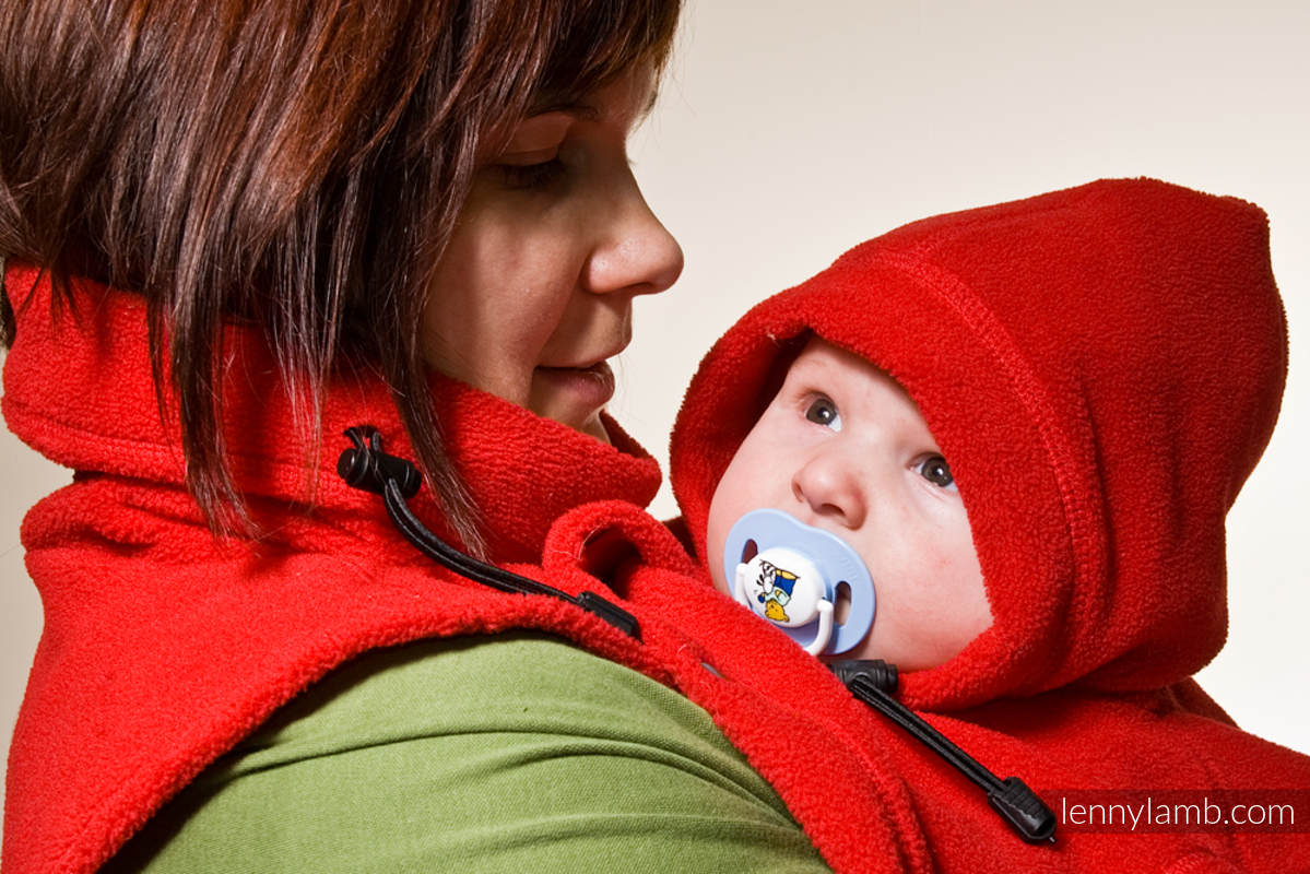 Turtleneck for two - red (grade B) #babywearing