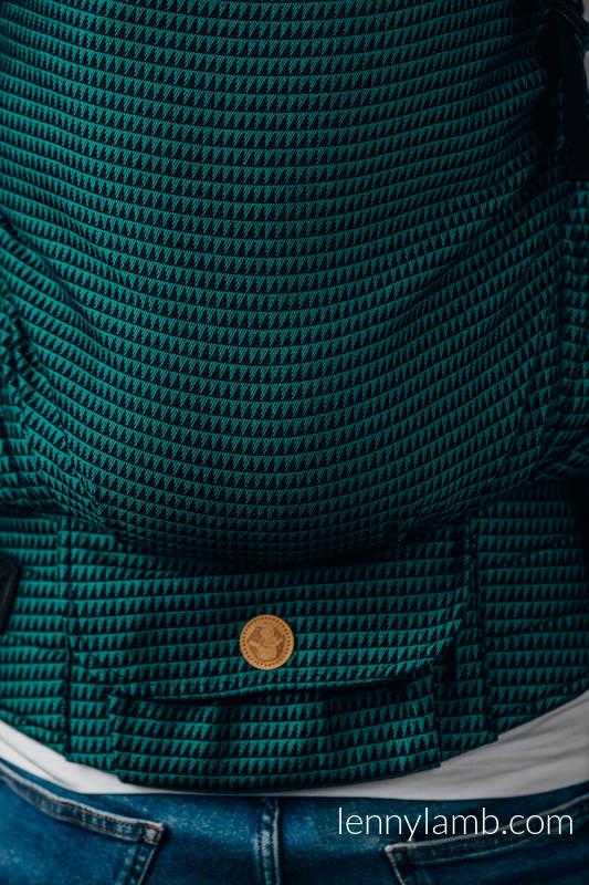 Mochila LennyPreschool, talla preschool, tejido tessera 100% algodón - BASIC LINE JADE #babywearing