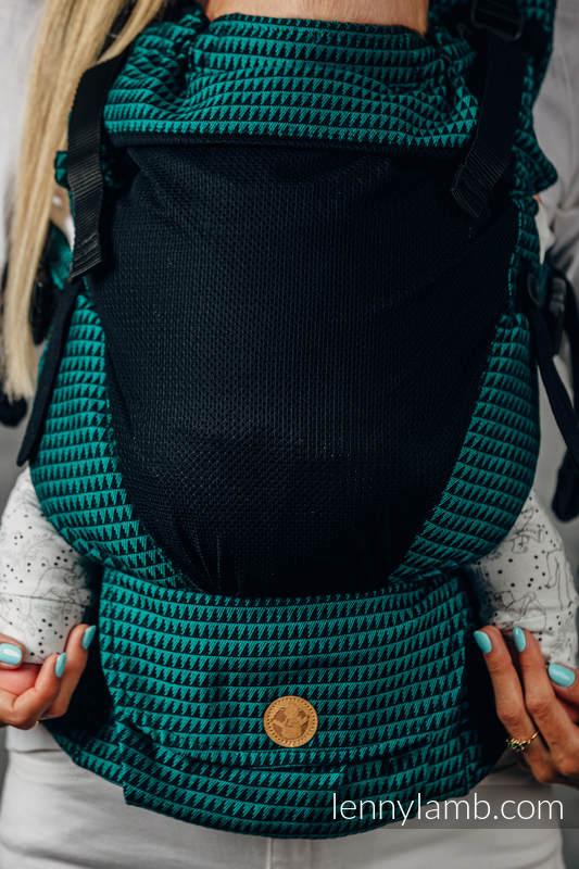Mochila portabebé LennyUpGrade de malla, talla estándar, tejido tessera, (75% algodón, 25% poliéster) - BASIC LINE JADE #babywearing