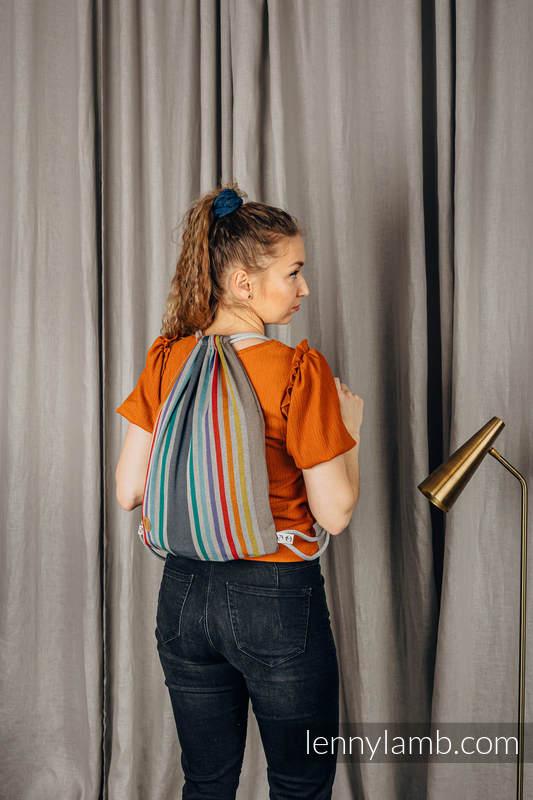 Mochila portaobjetos hecha de tejido de fular (100% algodón) - OASIS - talla estándar 32cm x 43cm #babywearing