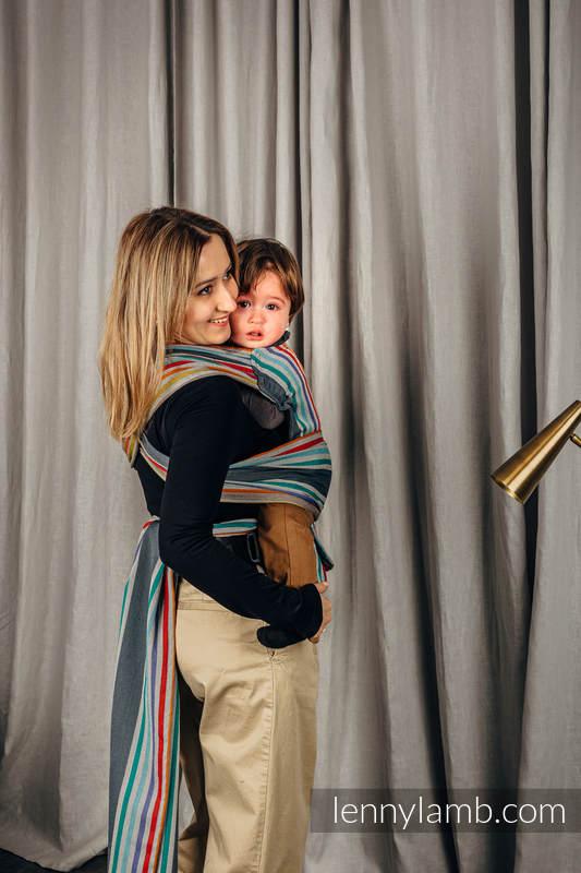 LennyHybrid Half Buckle Carrier, Standard Size, broken - twill weave 100% cotton - OASIS #babywearing