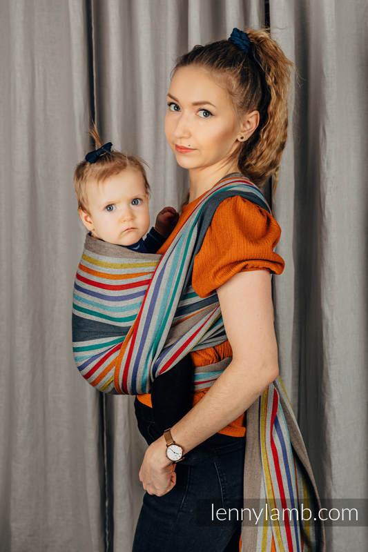 Fular, sarga cruzada, 100% Algodón - OASIS - talla M #babywearing
