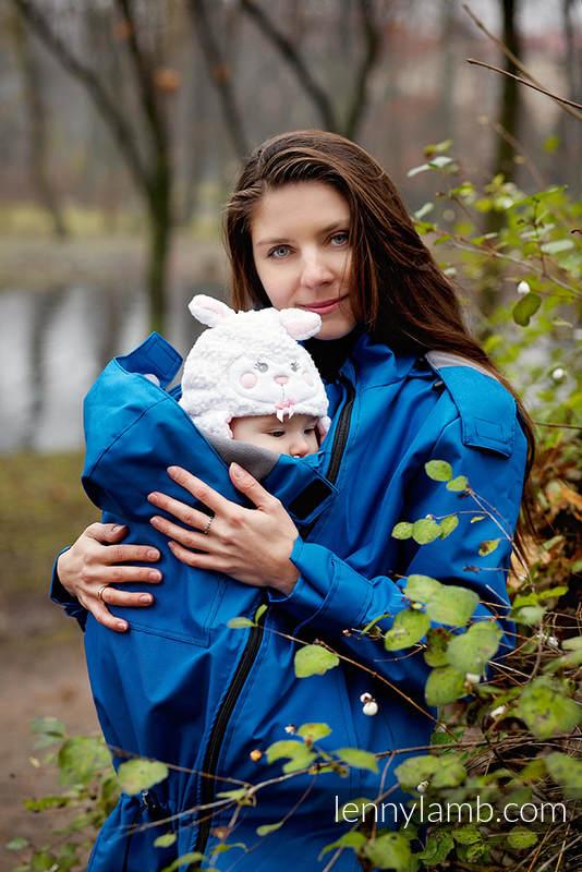 Babywearing Coat - size L - blue #babywearing